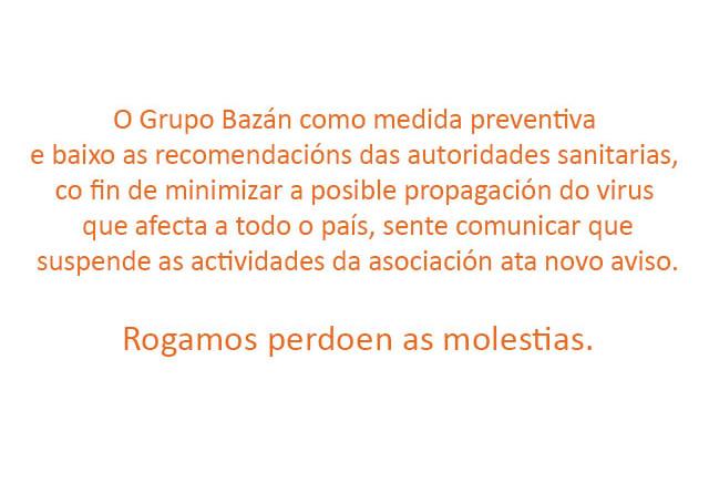 aviso de supspension de actividades grupo Bazan